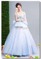 Quinceanera Dresses Blue Ball Gown with cape