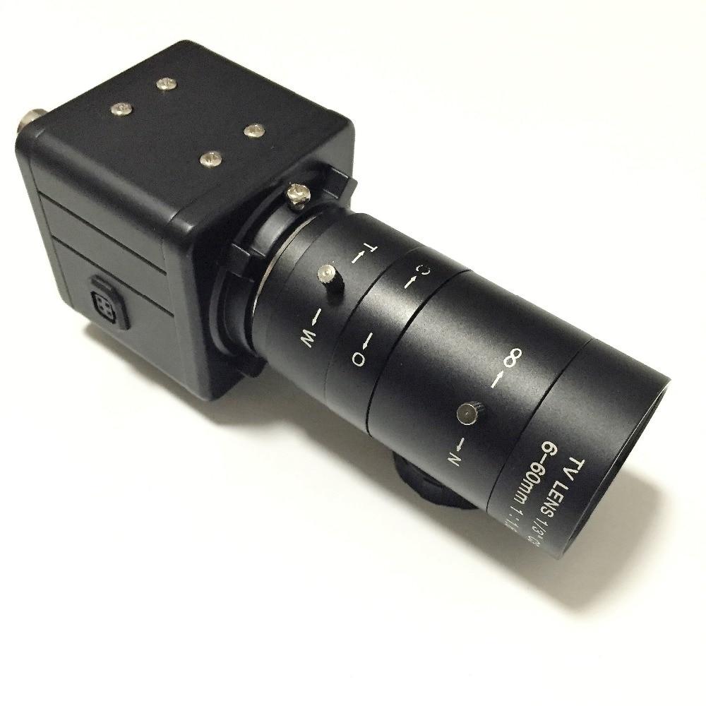 HD 700TVL Sony CCD CCTV Varifocale Boîte Caméra OSD D-WDR 6-60mm Lentille