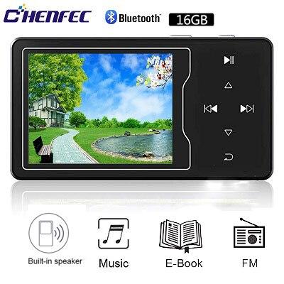 CHENFEC C03 MP3 Video Player Com Bluetooth4.0 Alta Tela de 2.4 Full HD de Vídeo, Rádio FM, alto Falante Embutido, até 128 gb TF Cartão Mp3