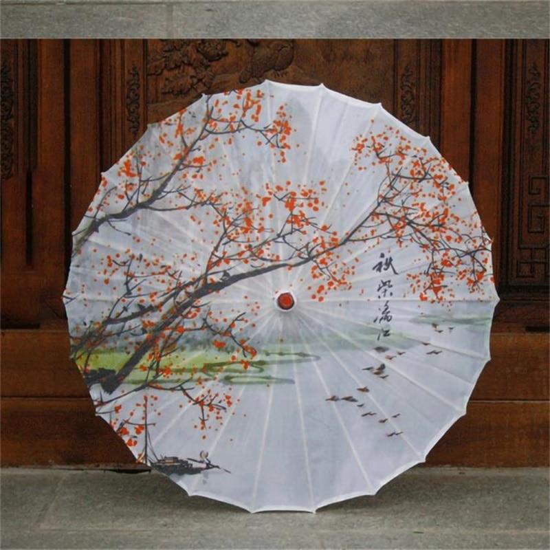 Korea traditional painting long size automatic umbrella