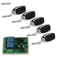 QIACHIP 433Mhz Wireless Remote Control Light Switch AC 110V 220V 2CH Relay Receiver Module With RF