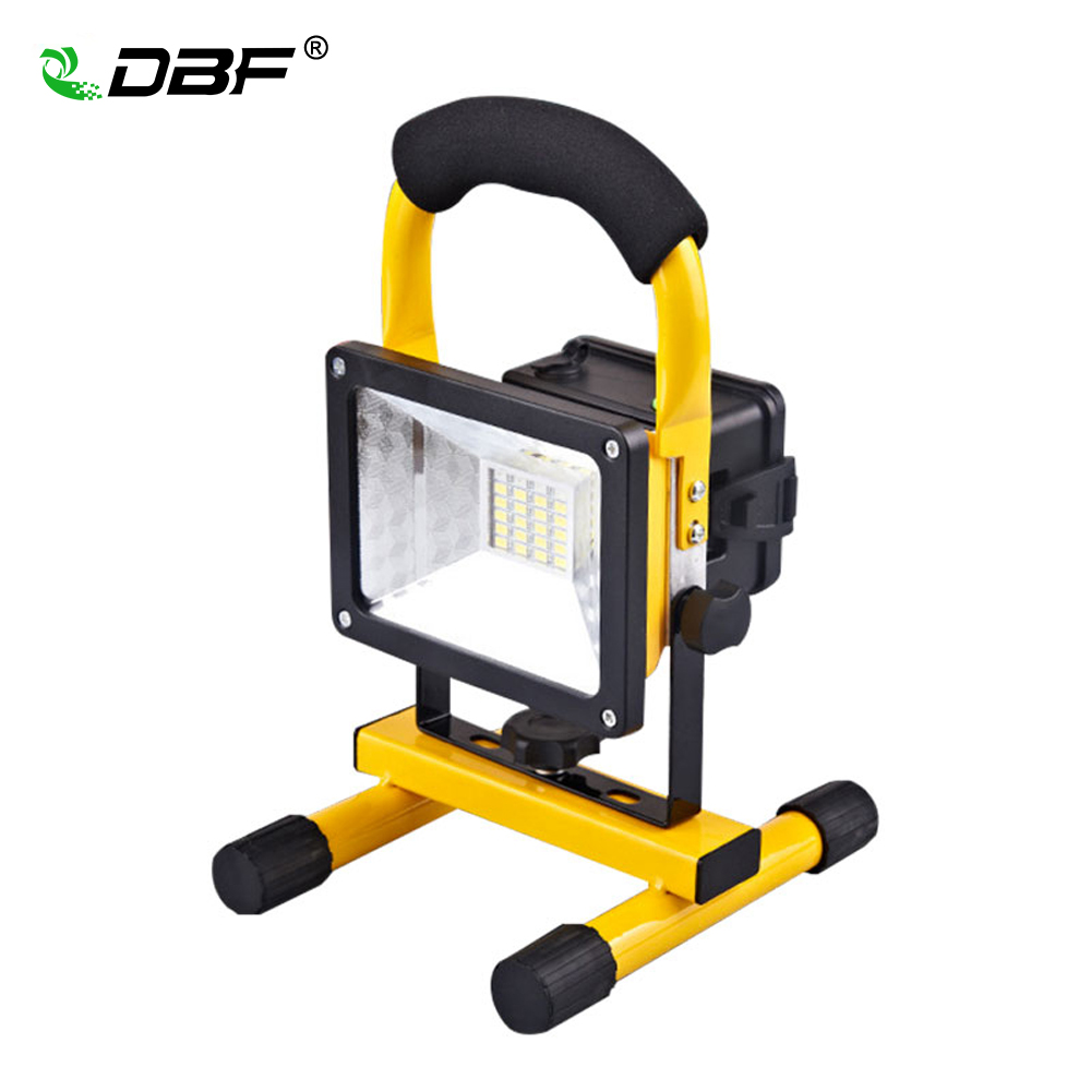 DBF Portable Rechargeable LED Flood Light 30W 24LED Waterproof IP65 Camping Lamp Outdoor Spotlight Floodlight
