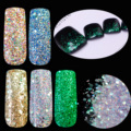 Dazzling Pentagon sequins Holographic Glitter Powder Mix Color Glitter Green Purple Champagne Makeup Acrylic Powder Glitter