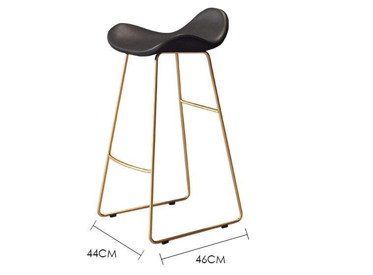 Nordic Bar Chair Creative Modern Minimalist Bar Stool Front Seat Leisure Tea Shop Coffee Shop High Chair
