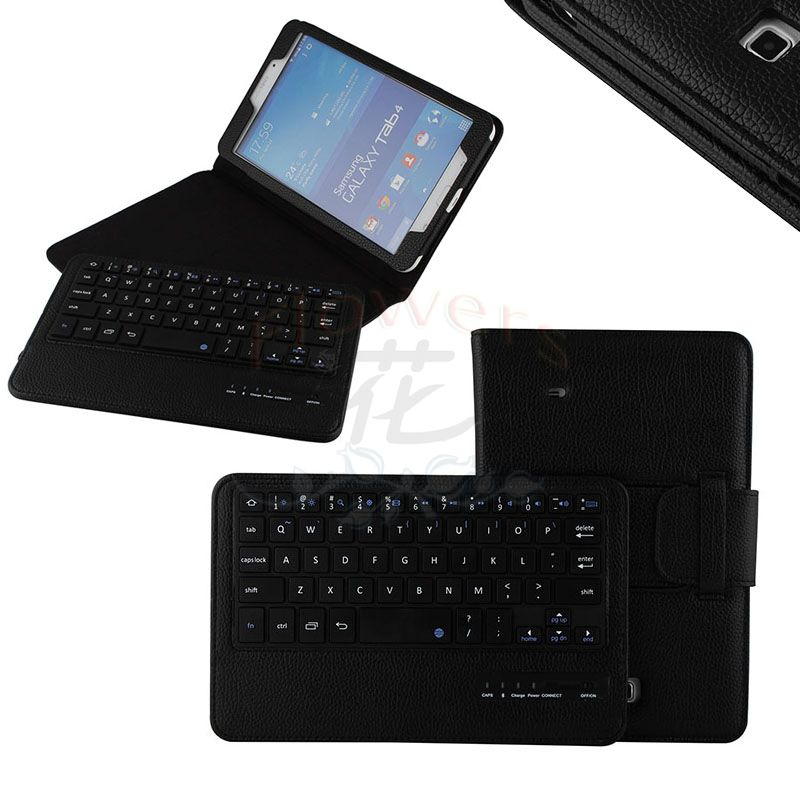 New arrive Detachable Bluetooth Keyboard Stand Case cover For Samsung galaxy tab 4 tab4 8.0 T330 SM-T330 T331 T335 - Black bluetooth detachable keyboard folio case cover for samsung galaxy tab a 9 7 t550 h029