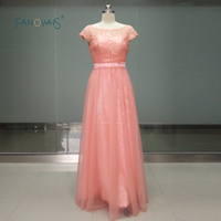 Cheap Mint Green Lilac Yellow Chiffon Long Bridesmaid Dresses Floor Length Top Lace Wedding Party Dresses