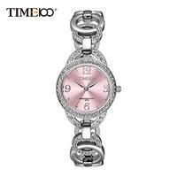 Time100 De Luxe De Mode de Femmes Bracelet Montres Squelette Bracelet En Acier Inoxydable Montres À Quartz Rose Diamant Cadran Montre-Bracelet