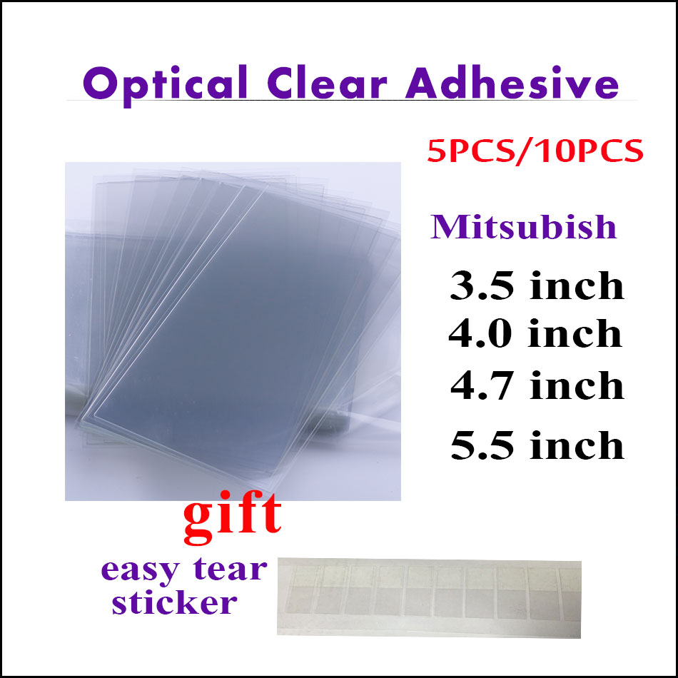 5PCS/10PCS For iPhone 8 7 6 6S Plus 5C 5S 5 4 4S 250um OCA Optical Clear Adhesive Glue Touch Glass Lens Film+Easy Tear Sticker