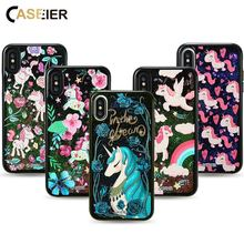 CASEIER Quicksand Phone Case For iPhone X 8 7 6 Plus Cover Bling Glitter Sand Girly Cases 6S 3D Liquid Shell
