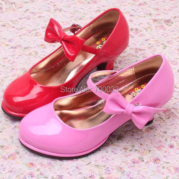 SoKoll Brand!! Eco friendly Pink High Heel Kids Girls Dress Shoes ...