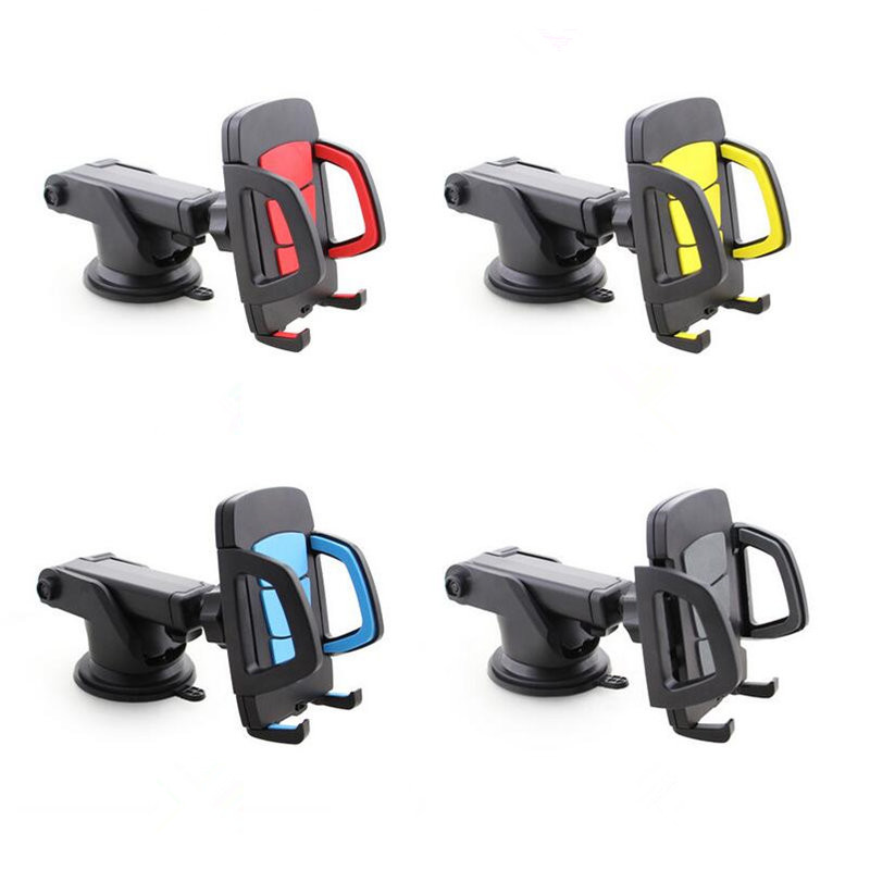 Universal 360 Rotate Phone Car Holder Frame for iPhone 7 6S Samsung S7 S8 Adjustable Suction Windshield Mount Stand Car Bracket