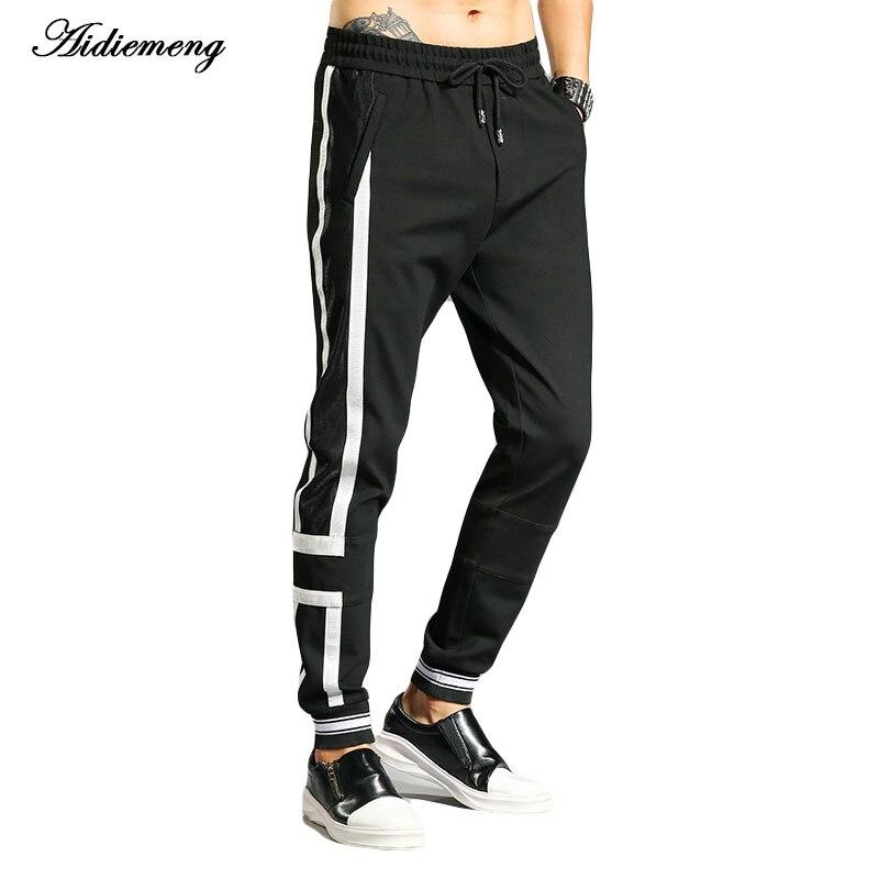 Aidiemeng 2018 Spring Sweatpants Men Fashion Stripe Pants Men Casual Sweatpants Elastic Workout Fitness Sweat Trousers Britches