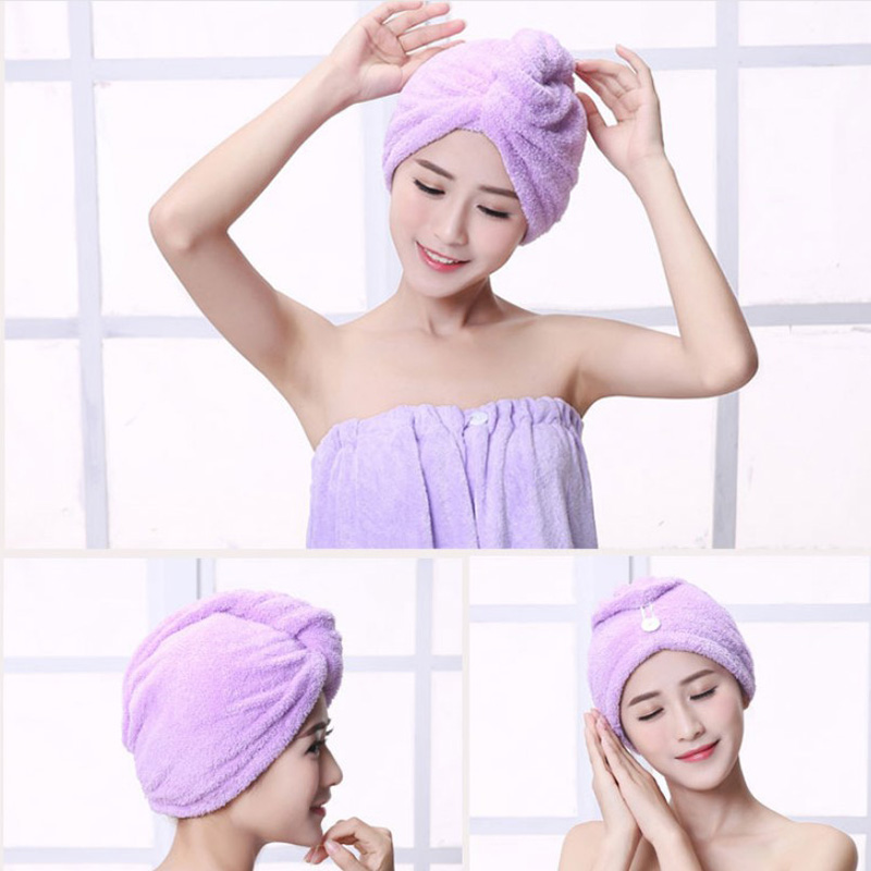 Hair Towel Coral Velvet Dry Hair Cap Towel Absorbent Thickening Shower Cap Quick Dry Wipe Hair Bath Towel