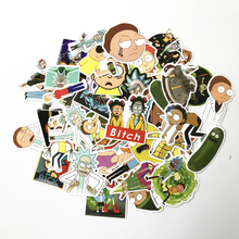 69Pcs/lot Drama Rick and Morty 2019 Stickers Decal For Snowboard Laptop Luggage