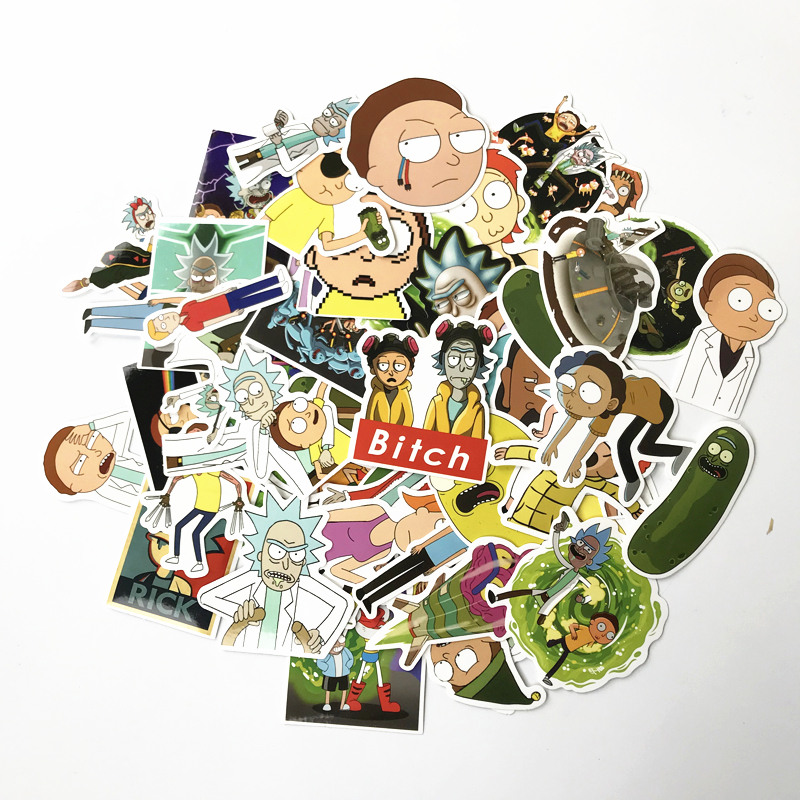 69Pcs/lot Drama Rick And Morty 2020 Stickers Decal For Snowboard Laptop Luggage Car Fridge DIY Styling Vinyl Home Decor Pegatina