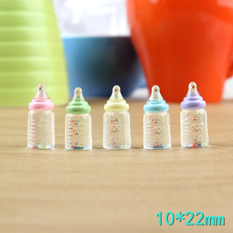 8pcs/lot 1/6 Scale Miniature Feeding Bottles For Dollhouse Play Pretend Kitchen Food Toys For Children Mini Drink