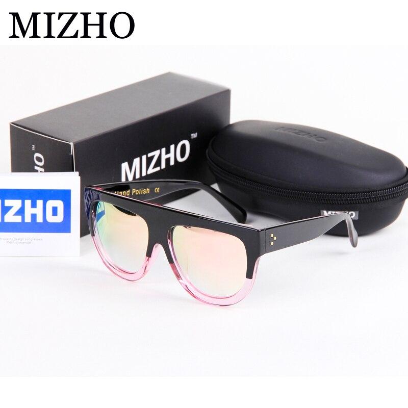 Mizho HD Minus Efek Refleksi Lensa Kacamata untuk Wanita Vintage Merek  Desain Pertunjukan Frame Semi Tanpa Bingkai Kacamata Pria Cermin di Kacamata  Hitam ... 35f00948ec