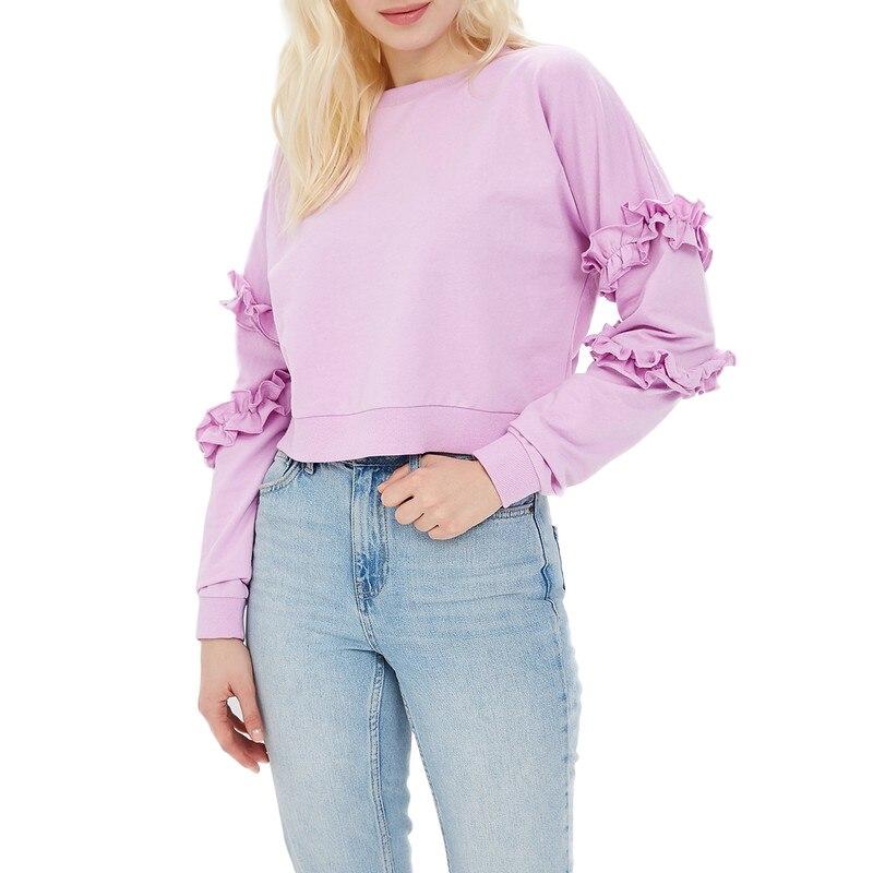 Hoodies & Sweatshirts MODIS M181W00417 woman hooded jumper sweater cotton for female TmallFS