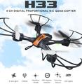 Jjrc h33 2.4 ghz 4ch 6 axis rc quadcopter drone headless modo/una tecla de retorno/360 grados de rotación