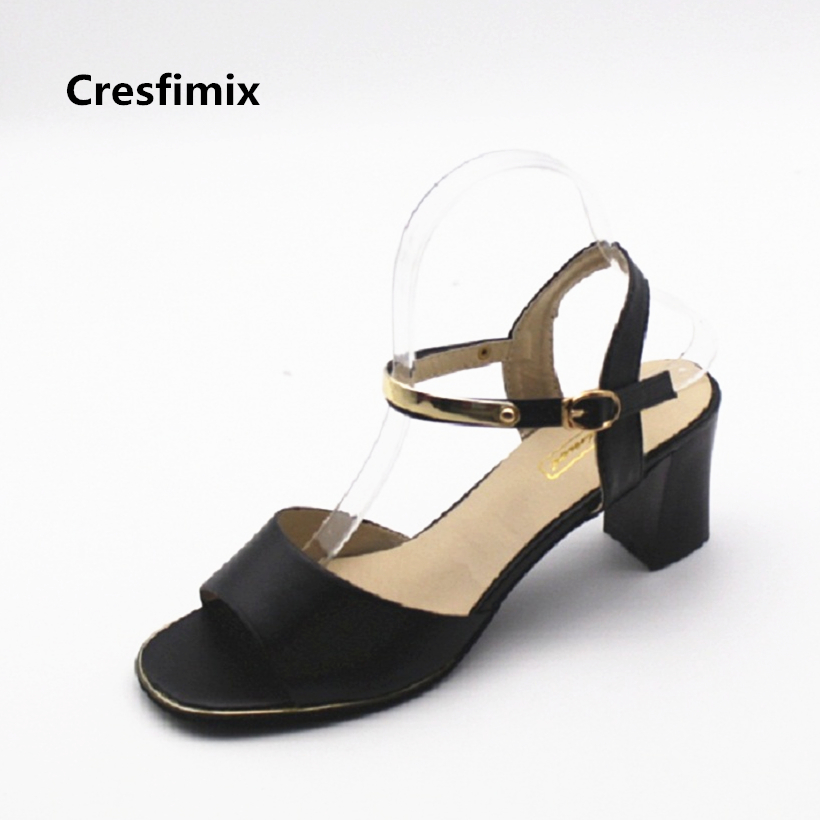 Cresfimix sandalias de mujer women fashion pu leather high heel sandals shoes lady spring and summer open toe black sandals cresfimix zapatos de mujer women fashion pu leather street flat shoes lady sexy