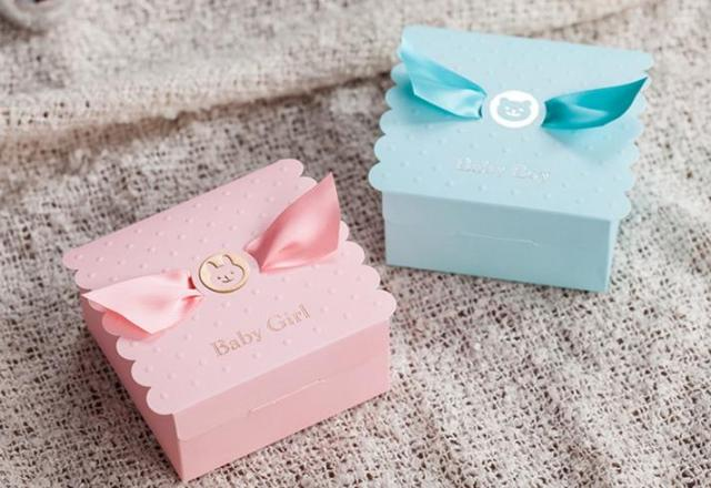Baby Shower Favors Box Blue Pink Party Decorations Baby Girl Boy