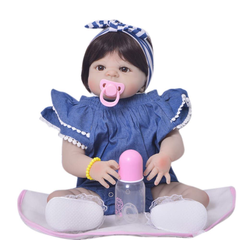 22 bebes reborn alive bonecas handmade Lifelike Reborn Baby Doll Girls Full Body Vinyl Silicone with