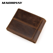 Top Quality Men's Wallet Genuine Leather Wallet Men Splice Zipper Money Bag with Coin Pocket Male Purse portemonnee carteira недорго, оригинальная цена