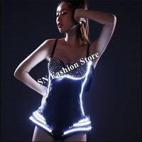 Hn02 свет Бальные красочные костюмы платья/бар пикантные вечерние модель бюстгальтера диско DJ носит Штаны Танцы одежда