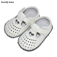 2017 New Summer Baby Girls Sandals Genuine Leather Heart Shaped First Walkers Handmade Toddler Shoes Soft