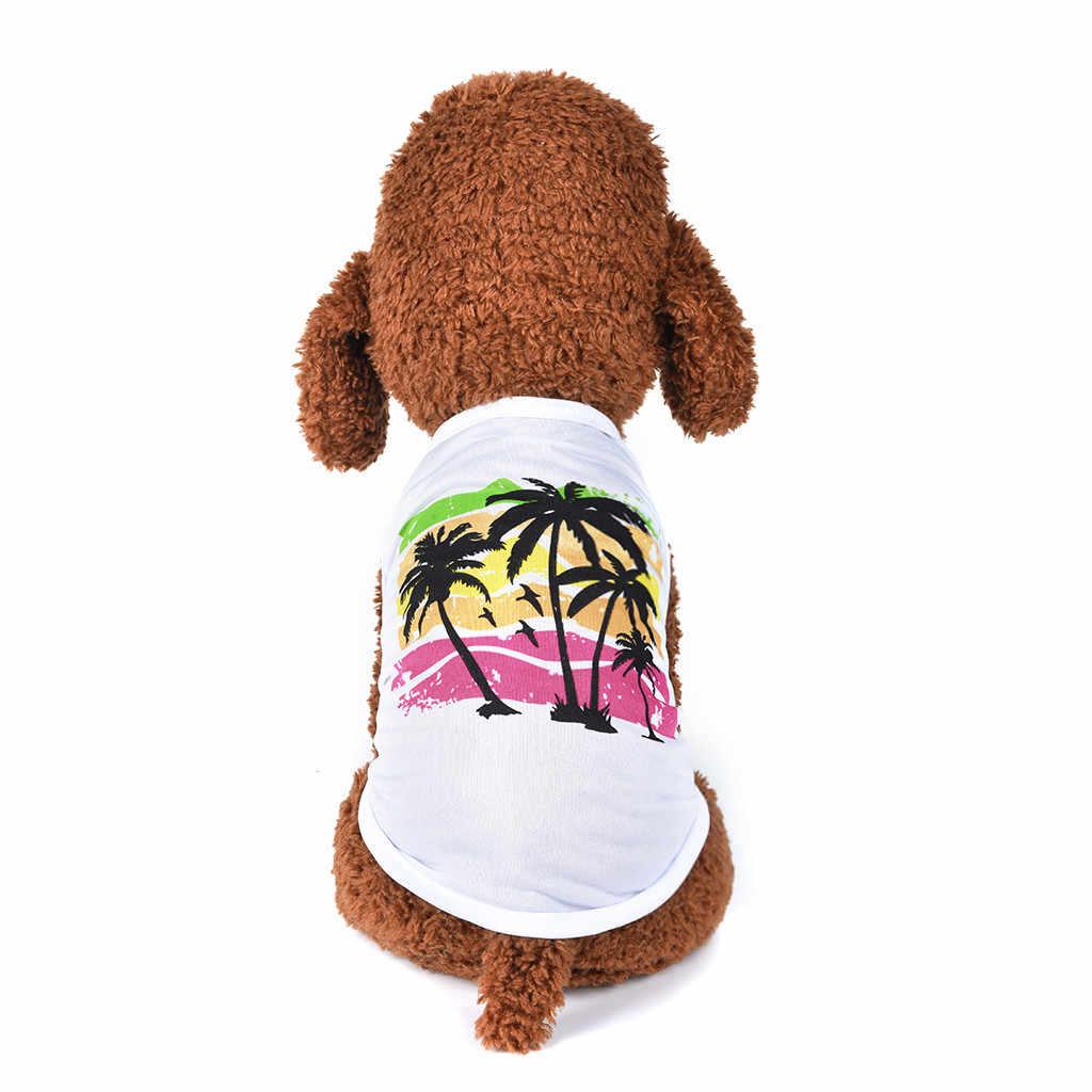 แมวสุนัขสัตว์เลี้ยงเสื้อกั๊กสไตล์ฮาวาย bulldog frances ฤดูร้อน Breathable Leisure สัตว์เลี้ยงเสื้อผ้าบาง moletom masculino com capuz