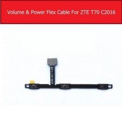 Genuine volume & power flex cabo de fita para zte axon max c2016 t70 volume & botão de energia controle lado interruptor chave flex peças