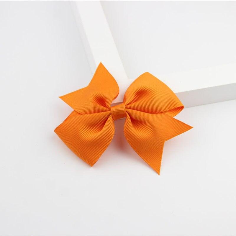 Новые модные маленькие заколки для волос для маленьких девочек, милые заколки для волос карамельного цвета с цветком, детские заколки, аксессуары для волос - Цвет: a17 Orange