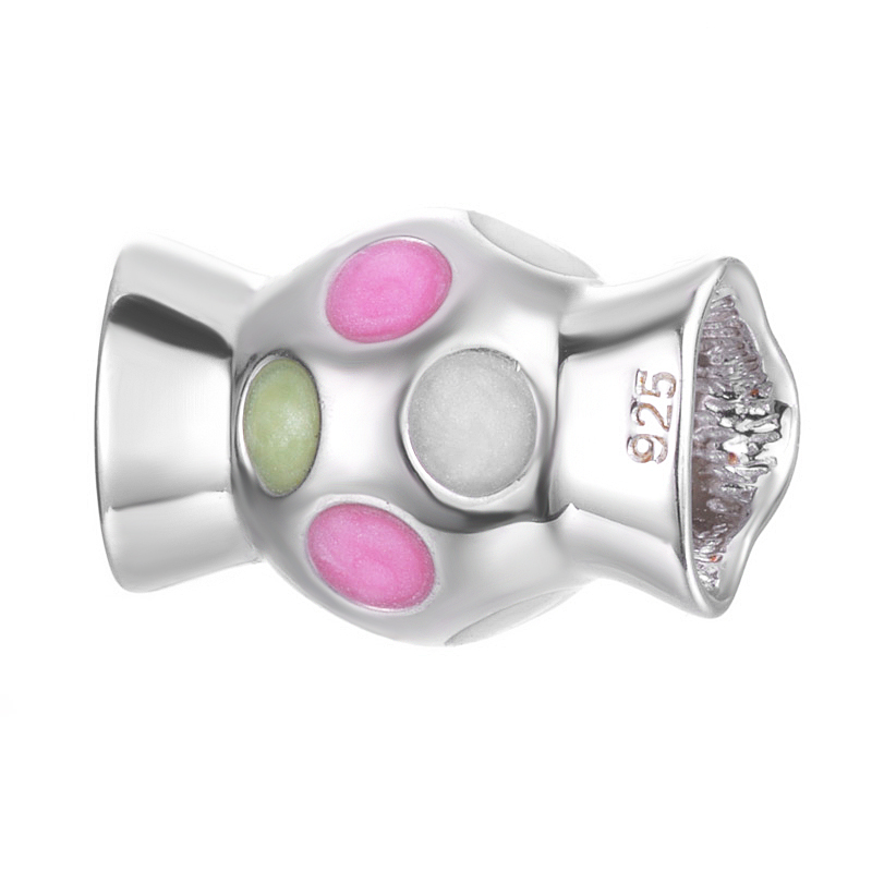 Sweet Colorful Candy Design Best Gift To Girlfriend Handmade Jewelry 925 Sterling Silver Bracelet nice handmade Pendant Charm