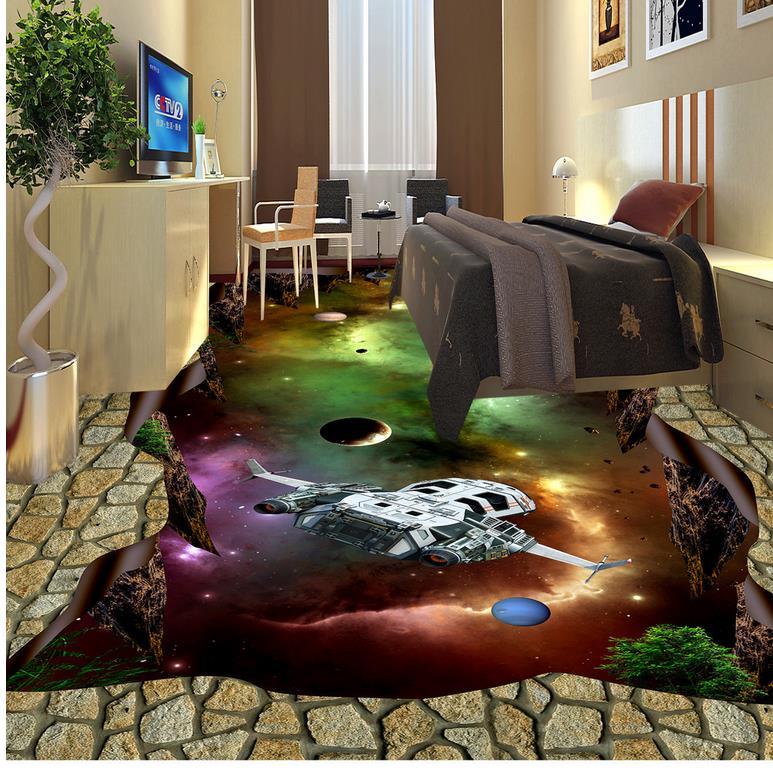 ФОТО 3D stereoscopic wallpaper floor world Custom Photo self-adhesive 3D floor 3d flooring bathroom  PVC waterproof floor