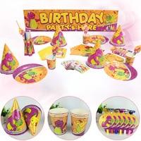 Baby Shower Children Birthday Dinosaur Theme Party Decoration Supplies 1 set Disposable Party Tableware Decoration Supplies