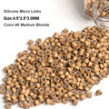 Silicone Micro Ring For Hair Extensions 4.5*2.5*3.0MM 1000Pcs/Bottle #6 Medium Blonde Microring With Silicon Beaded Dreadlocks