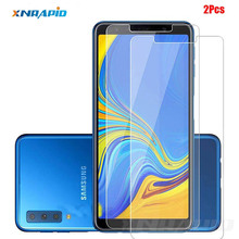 2Pcs Screen Protector For Samsung Galaxy A7 2018 Tempered Glass Samsung A7 2018 A 7 2018 SM-A750F A750F A750 Protective Film цены онлайн
