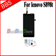 100% Original LCD Screen For lenovo s898t s8 With Touch display Digitizer Assembly replacement + tools Free Shipping high quality replacement lcd display touch digitizer screen assembly complete for lenovo p780 free shipping