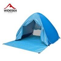 Widesea Beach Tent Pop Up Open 2 3 Person Sunshelter Kids Grow Tent UV Protect Quick