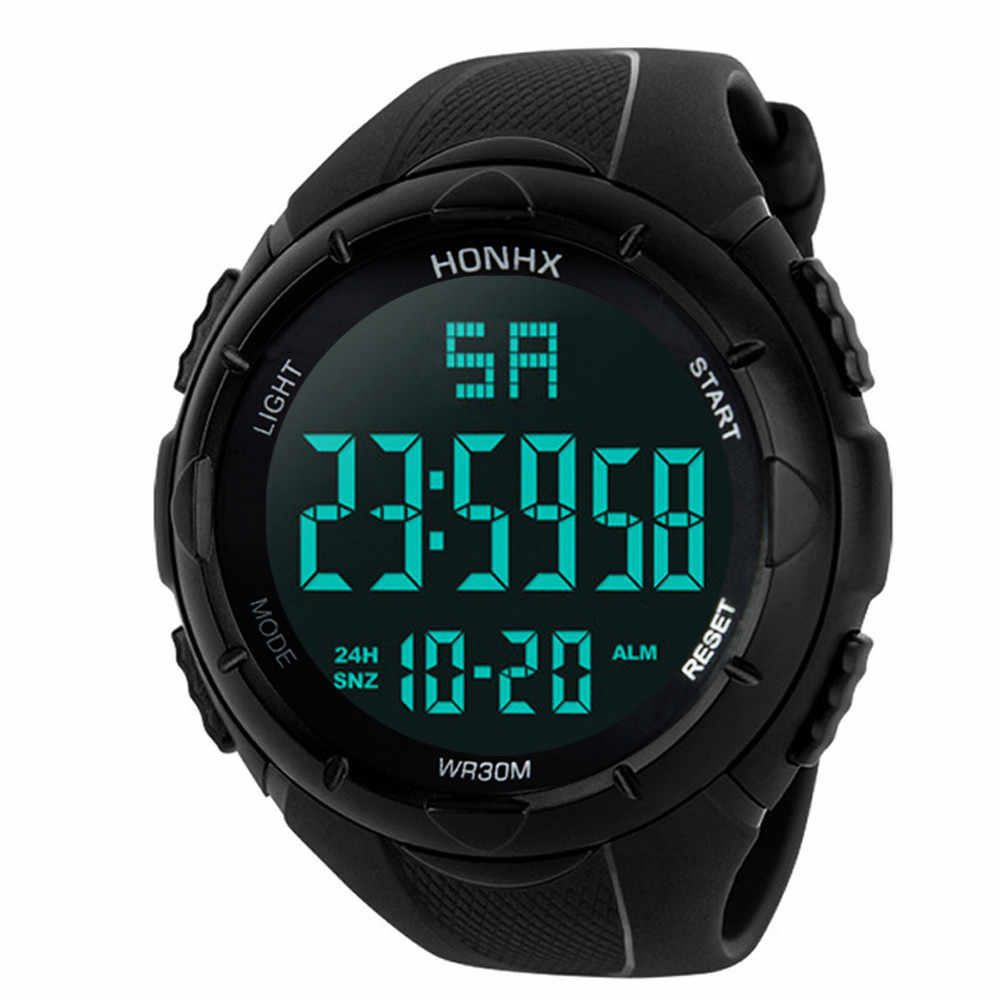 GEMIXIแฟชั่นและหรูหราใหม่ผู้ชายAnalog DigitalกองทัพทหารกีฬานาฬิกาLEDกันน้ำLED Sep.27