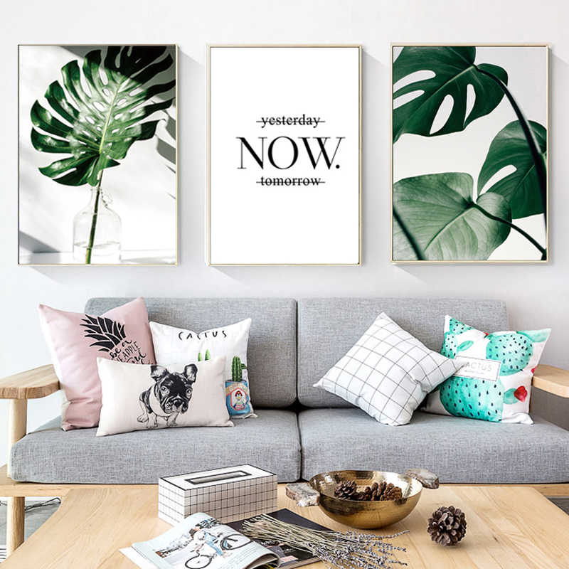 Nordic Canvas Painting Modern Prints Plant Leaf Art Posters Prints Art Wall Pictures Living Room Unframed Poster Home Decor