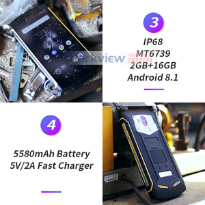 Image 4 - Blackview Bv5800 IP68 עמיד למים 5580mAh 4G 18:9 Smartphone 2GB 16GB 13MP NFC מגע מזהה נייד טלפון