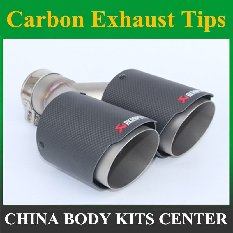 Inlet 63mm Outlet 89mm Stainless car Matte Carbon Fiber Car Exhaust Tip tailpipe car-styling exhaust car muffler tip Akrapovic car stying modifide muffler akrapovic inlet 63mm outlet 76mm carbon fiber exhaust tip muffler stainless steel for vw golf