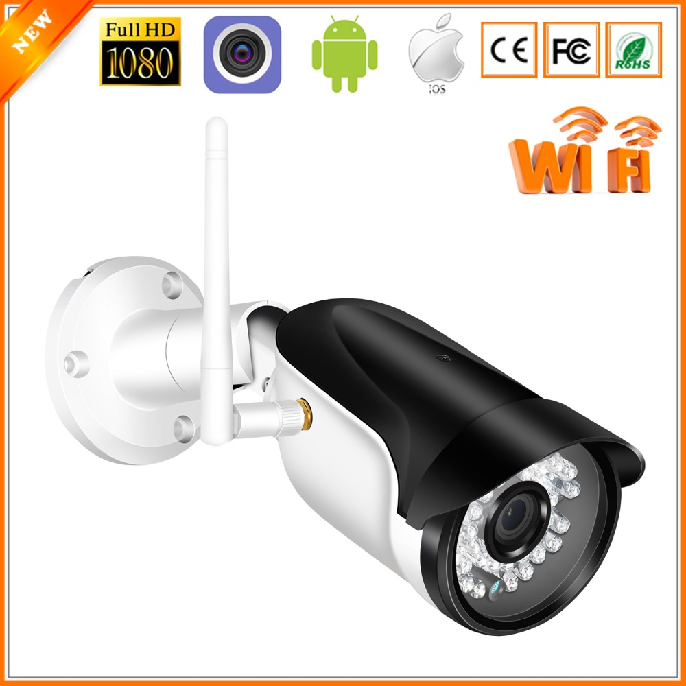 BESDER Wireless Outdoor Security Camera 1080P 960P 720P IR Night Vision Motion Detect ONVIF Bullet IP Camera WiFi + SD Card Slot-in Surveillance Cameras from Security & Protection
