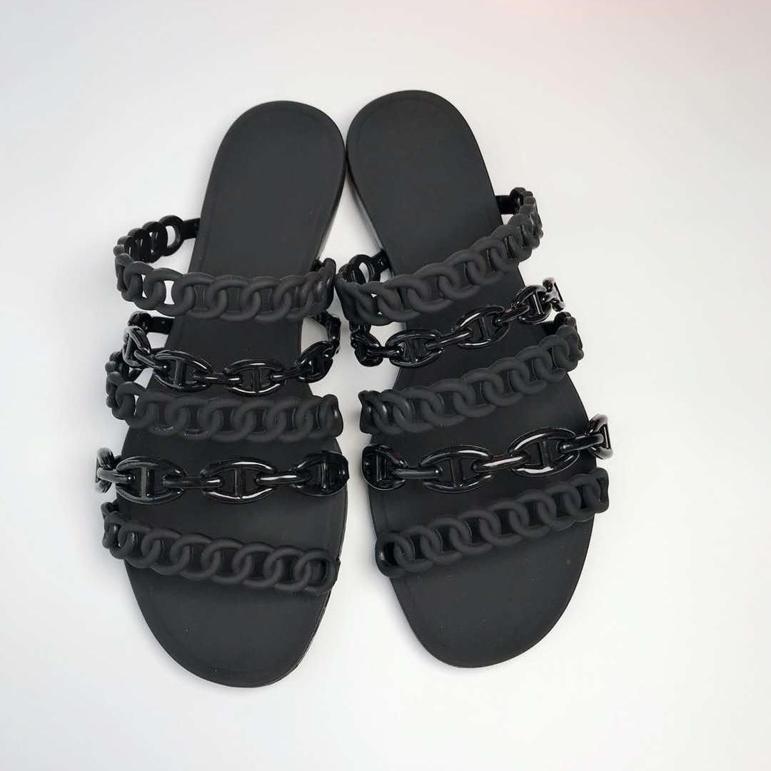 Frauen Hausschuhe PVC gelee pantoffel Baumwolle Stoff Strand skid strand flip flops sommer Heißer Verkauf Mode sandalen Flache Große größe 41-in Hausschuhe aus Schuhe bei  Gruppe 2