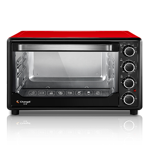 30 Liters Electric Single Oven Multifunction Household Horizontal Baking Oven with Mechanical Timer Control Free Shipping, Red free shipping large electric oven home baking 38 liters capacity