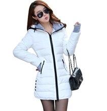 Wadded Jackets 2017 Female New Women's Winter Down Jacket Cotton Slim Women Down Parka Ladies Coat plus size M-XXXL A020