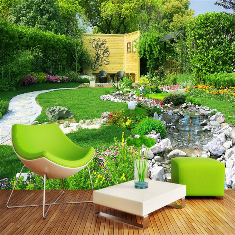 beibehang Custom 3d wall paper murals living room bedroom garden river landscape landscape 3d mural wall background home decor blue earth cosmic sky zenith living room ceiling murals 3d wallpaper the living room bedroom study paper 3d wallpaper