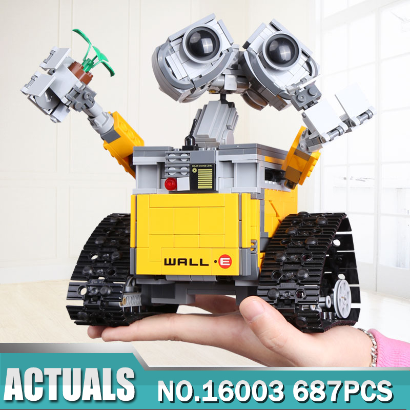 Lepin 16003 Ideas set 687pcs Robot WALL E Building Blocks Bricks Toys for Children boy toy Birthday Gifts Compatible Legoes21303 1 piece robot deformation model tyrannosaurus rex toys for children boy birthday gifts plastic force control puzzle dinosaur