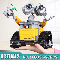 Newest Lepin 16003 687pcs Dea Robot WALL E Building Set Kits BlocksBringuedos Bricks Cute Toy For